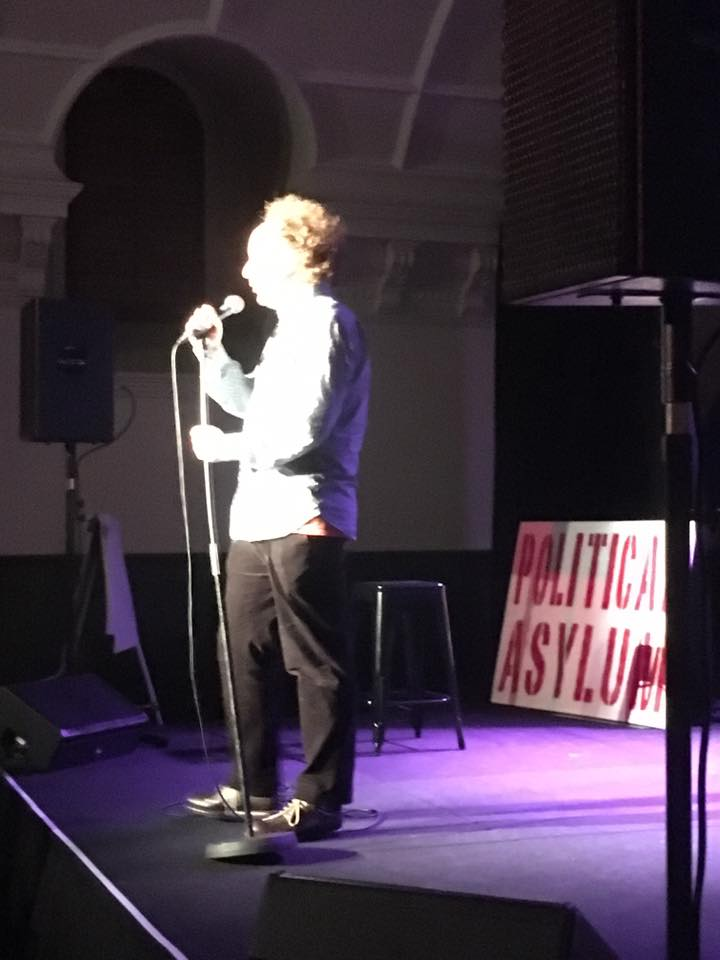 Andy Zaltzman performing at Political Asylum at the Melbourne International Comedy Festival 2017