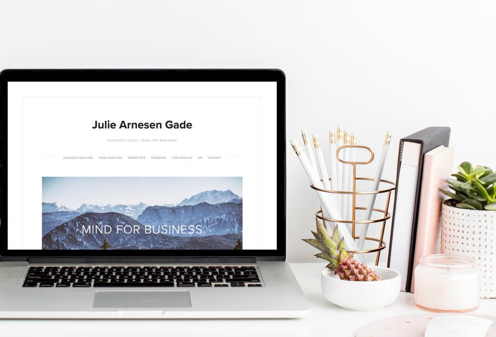 Website til business coach @julieag