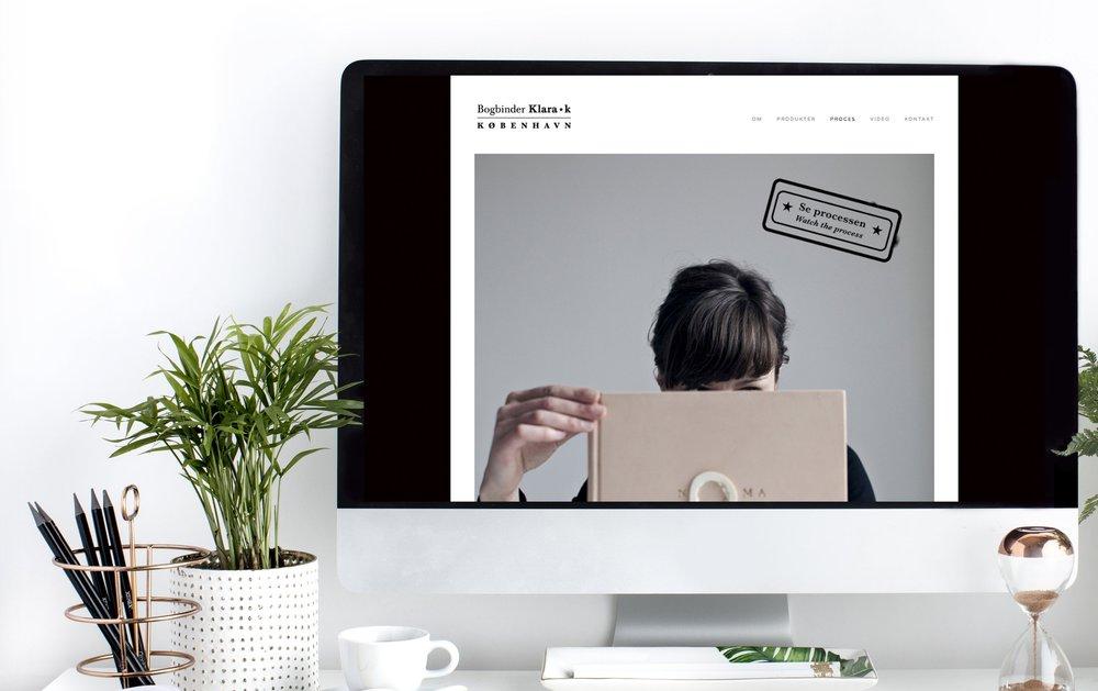 Website til Bogbinder Klara K