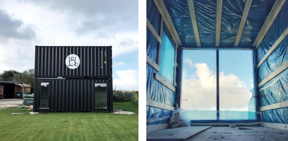 Container-projektet er i gang hos  18b , hvor Helle og co. bygger disse om til 2 fine småhuse.  Foto:  18b  på Instagram