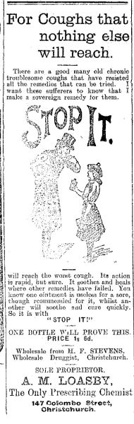Loasby's Mighty Cough Cure