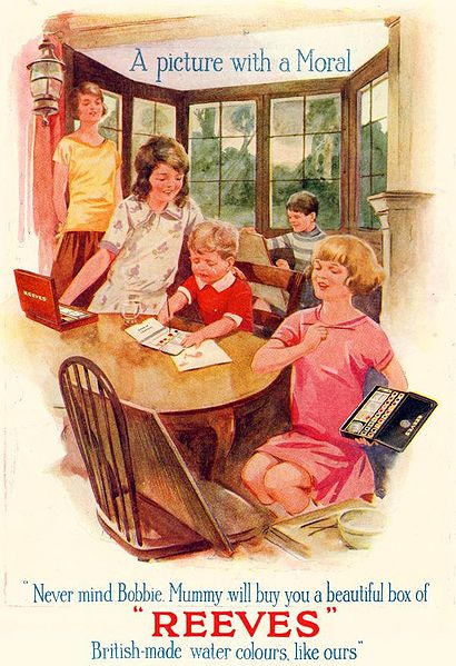 Ad for Reeves and Son Ltd. Grace's Guide: 1924