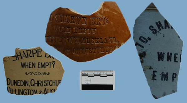 Sharpe Brothers stoneware jar body fragments. Image: Laura Davies