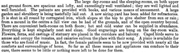 An inspector's comments after visiting Sunnyside in 1875 (AJHR 1875 H2:5).