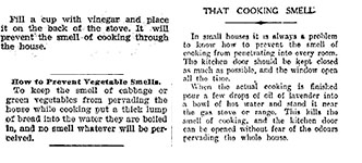 Advice on how to prevent cooking smells from permeating through the house. Images: