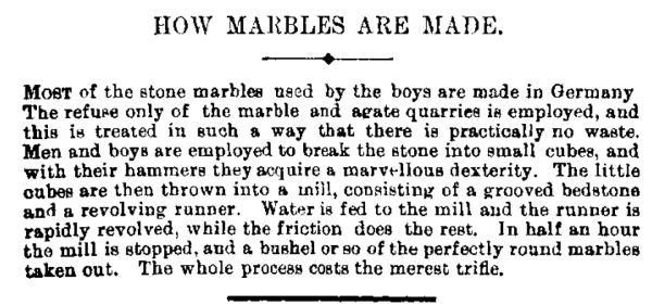 A 1901 description of marble manufacture in Germany. Image: