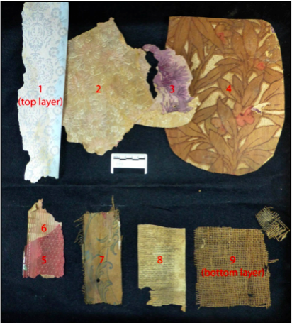 Breakdown of papers found in a Christchurch dwelling. Image: L.Tremelett.
