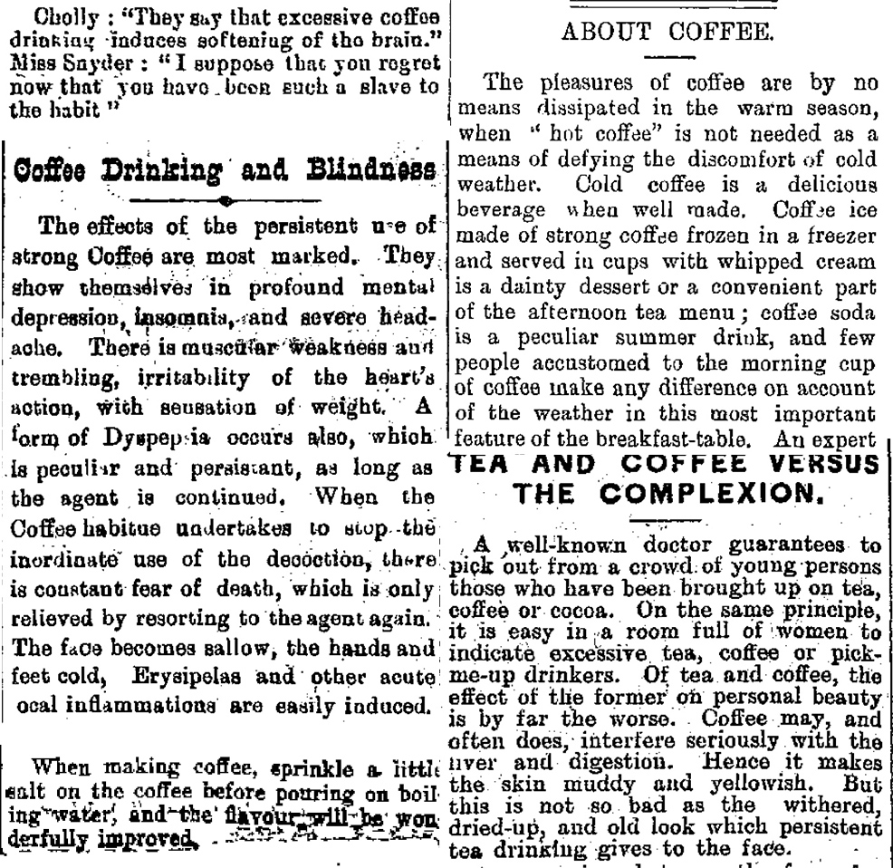 A selection of historical articles on coffee. Images:
