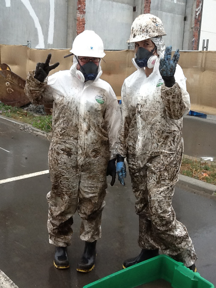 The consequences of a particularly muddy day on site. Image: K. Bone.