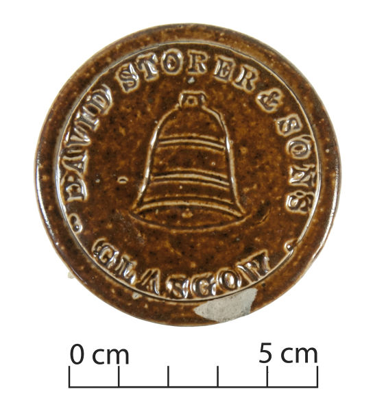 David Storer and Sons stoneware lid. Image: J. Garland.