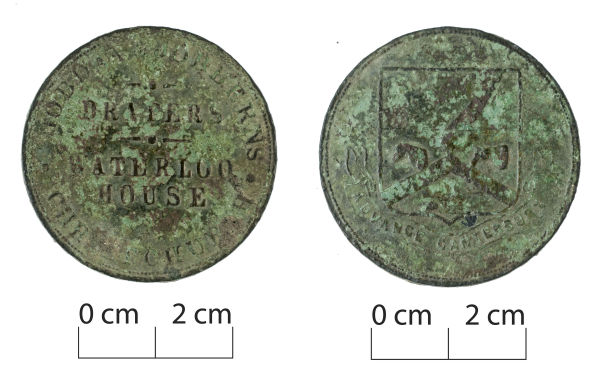 A Christchurch trade token, used as a form of substitute currency in the city in the 19th century, when actual currency was a bit scarce. Image: J. Garland.