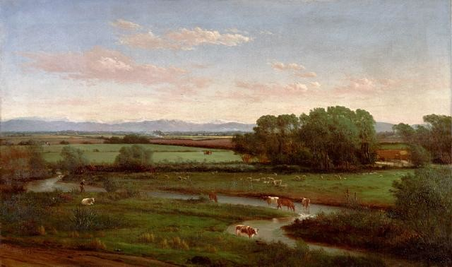 Figure 9. De-ne-ne, de-ne-ne-ne, de-ne-ne, de-ne-ne-ne. Image: John Gibb. 1886. From the Foot of the Hills. Te Puna O Waiwhetu Christchurch Art Gallery.
