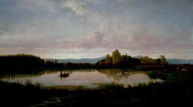 Figure 7. Na na na na na na na, fishing. Image: John Gibb. 1882. Bottle Lake. Te Puna O Waiwhetu Christchurch Art Gallery.