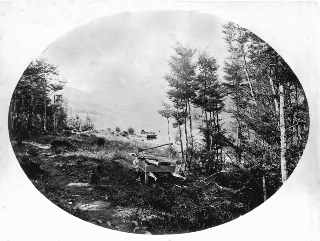 Lake Guyon. Travers, William Thomas Locke, 1819-1903 :Photographs. Ref: PAColl-1574-30. Alexander Turnbull Library, Wellington, New Zealand.