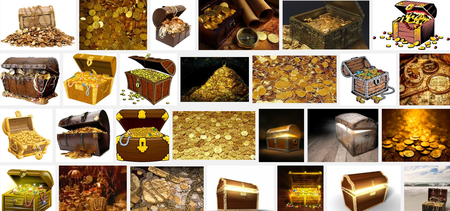 The results of a Google image search for 'treasure.' Image: Google.
