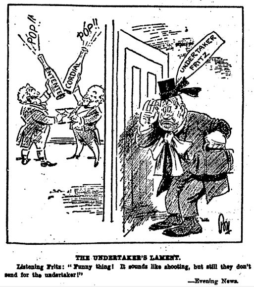 Figure 3. Hard times for the undertaker (New Zealand Herald 15/09/1923: 3)