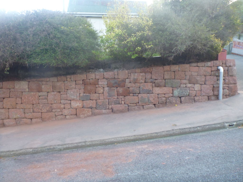 The same wall after deconstruction and reconstruction work (all completed by hand). Image: M. Hickey, 2016.
