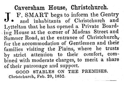 Lyttelton Times 21/2/1852: 1.