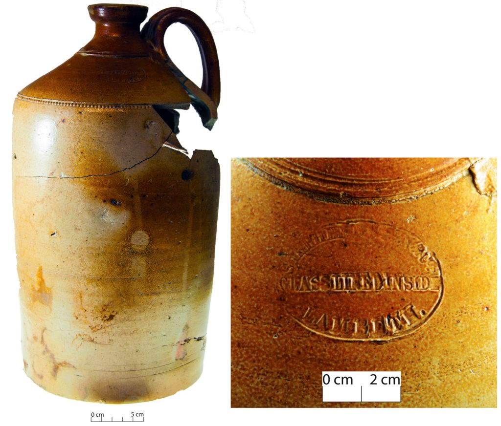 Stephen Green flagon with maker's mark. Image: C. Dickson.