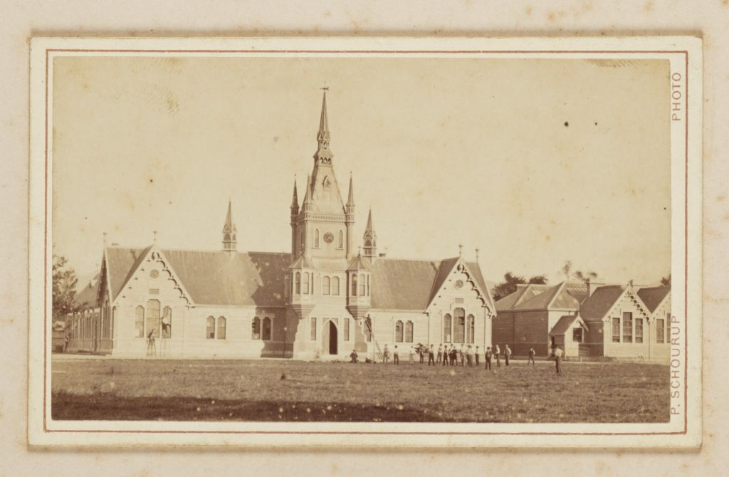 Church, from the album: Panorama of Christchurch NZ, from Cathedral Tower, by Peter Niels Schourup. Image: Te Papa (O.043694).
