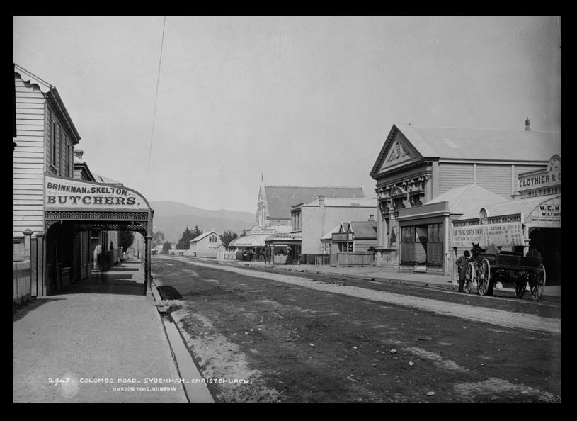 Colombo Road, Sydenham, Christchurch, 1880s, by Burton Brothers studio. Image: Te Papa (C.011526).