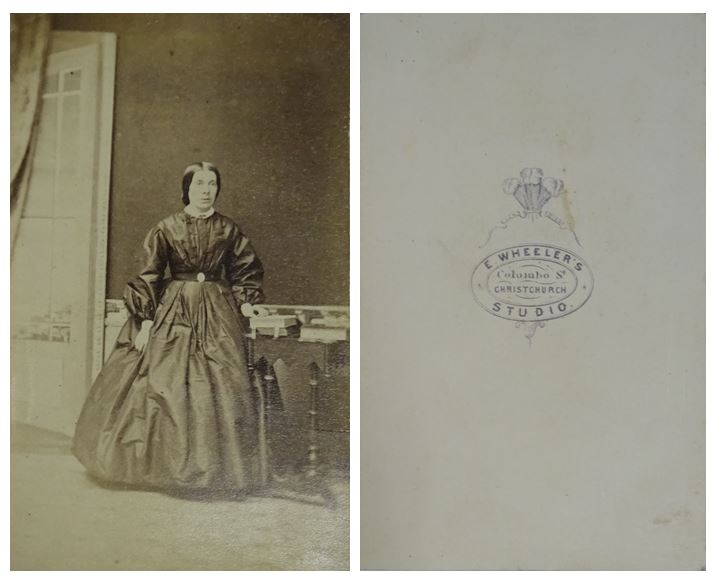 Unidentified woman, by E. Wheeler's Studio. Image: Toitū Otago Settlers Museum, Album 107.