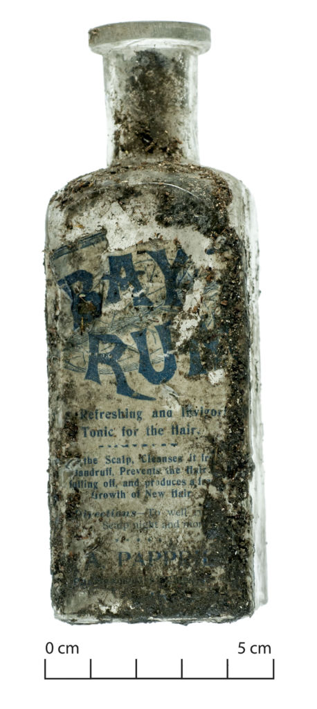 Bay Rum. Don't drink it, just rub it on your face and head. Image: J. Garland.