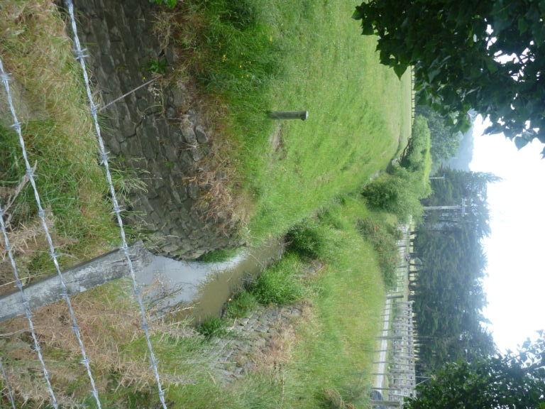 Cracroft's stone-line drain. Image: K. Webb.