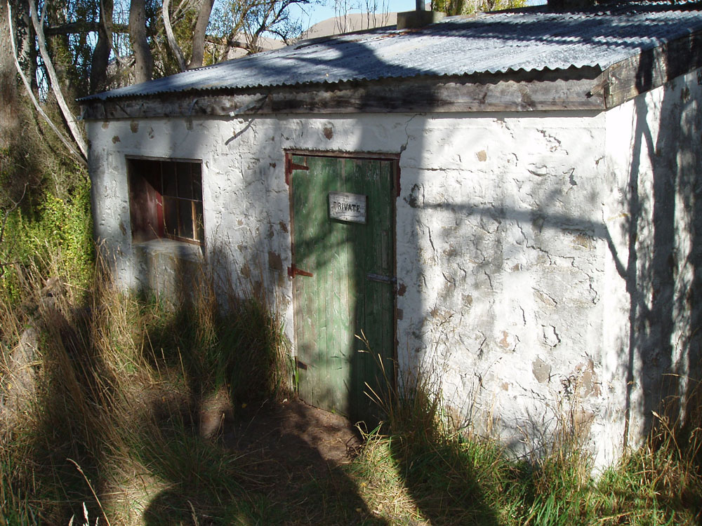 The door to the White hut. Image: K. Watson.