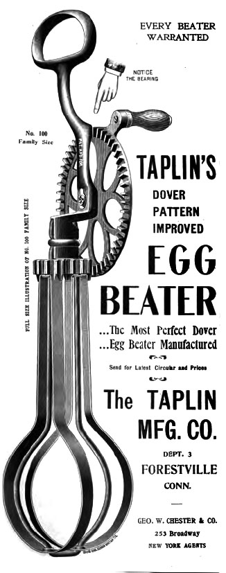 Advertisement for a rotary style egg beater. (Manawatu Herald 8/06/1880: 1)