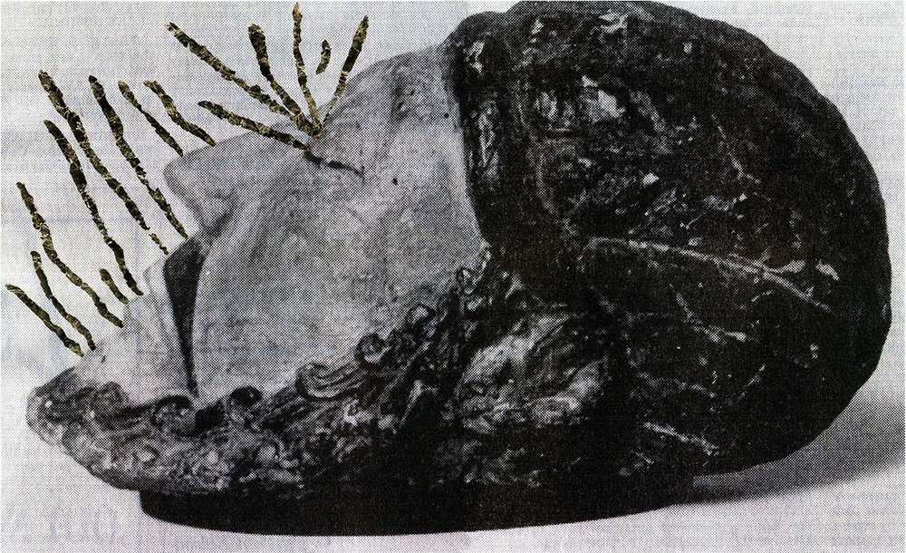 Ancient Sleep 1  (from the series A Head of Stone Still Moves), inkjet print on paper from original paper collage, variable size, 2016