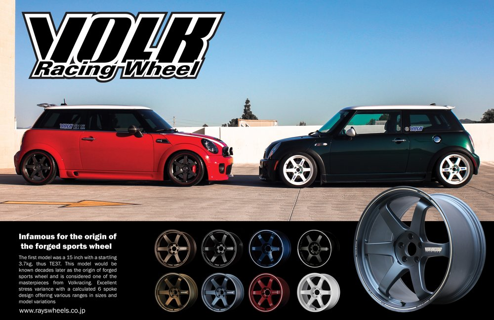 Mini Cooper and Volk Poster