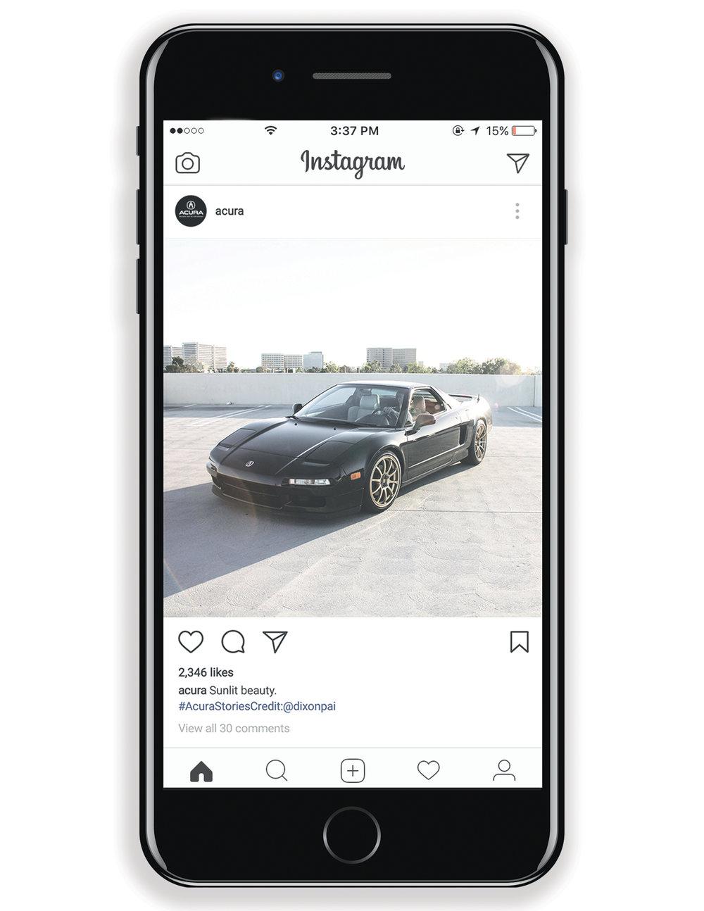 Acura NSX Instagram