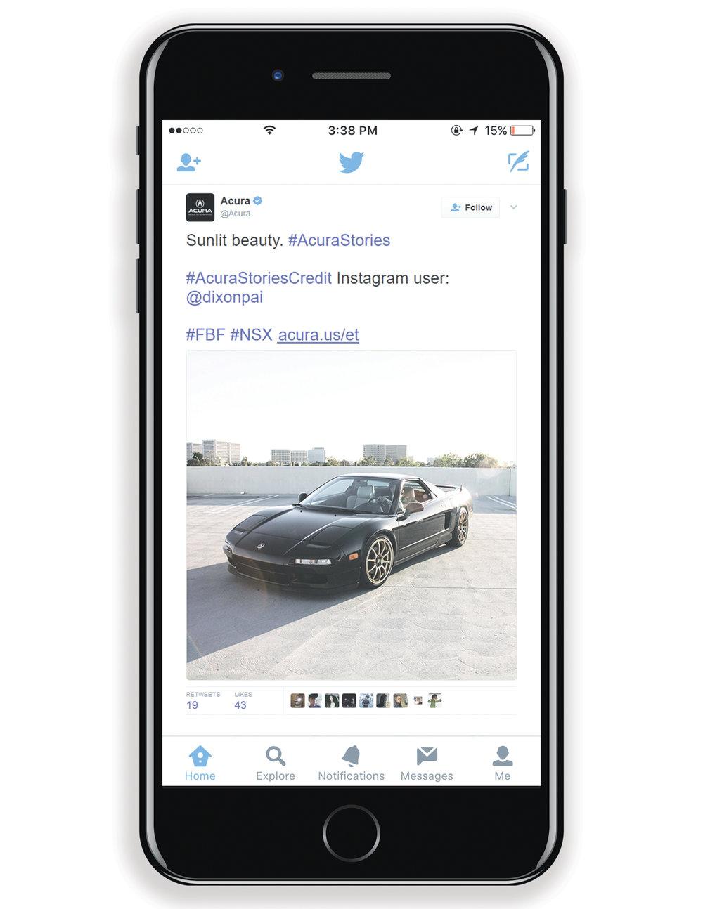 Acura NSX Twitter