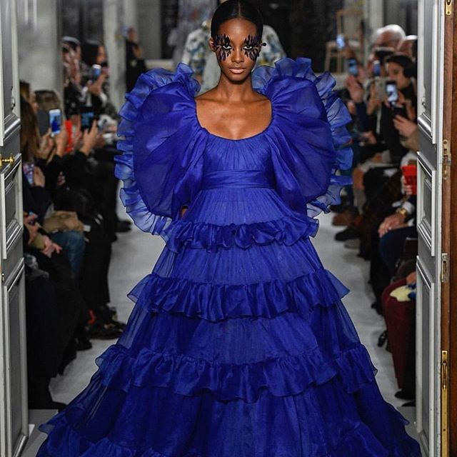 Some of my favourites from Couture Week.  1. @maisonvalentino . . . . . #valentino #flowers #colour #bloom #layers #evolve #rotate #fashion #fashiondesign
