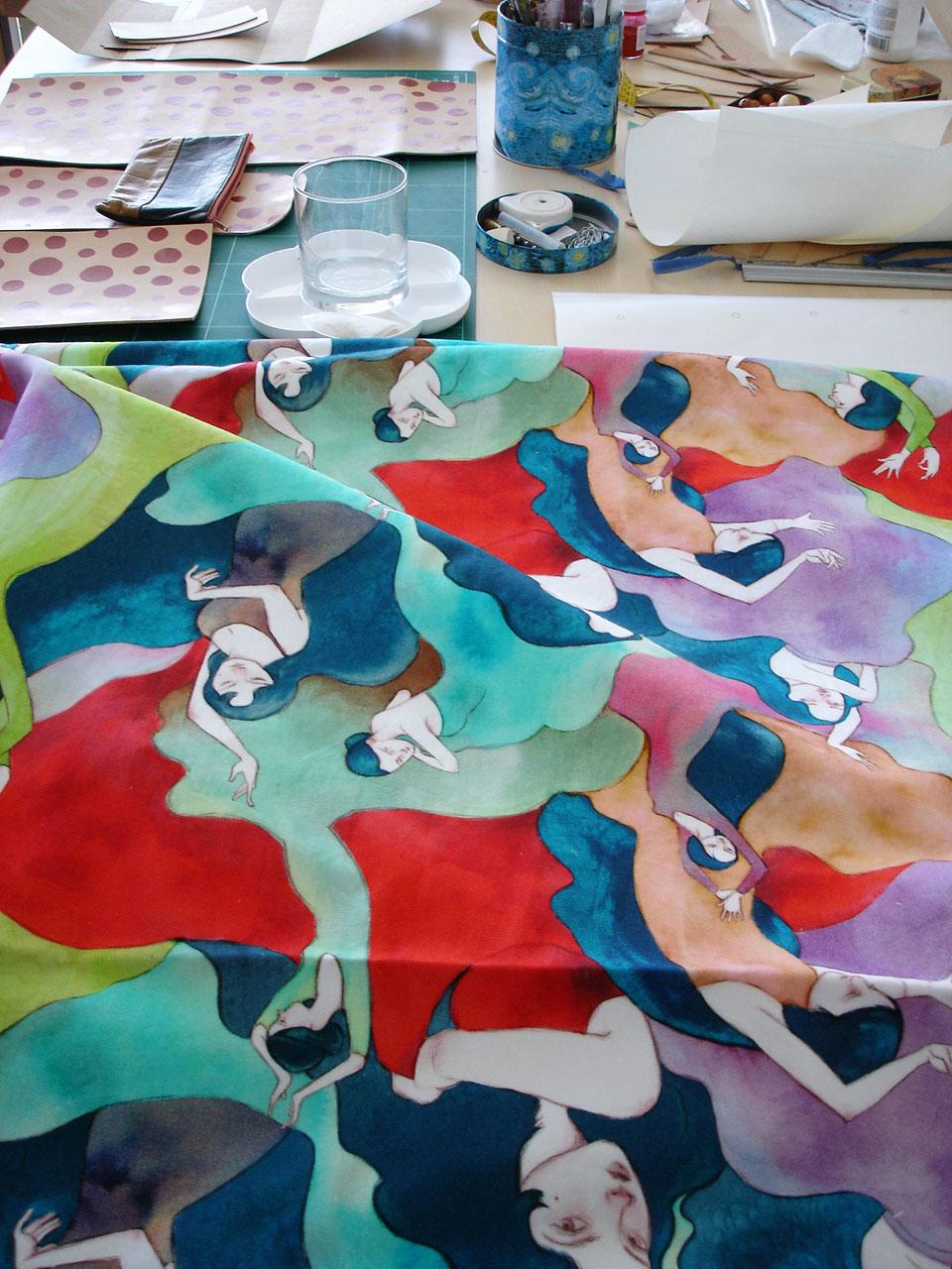 Beautiful pattern by illustrator  Ana Sender .