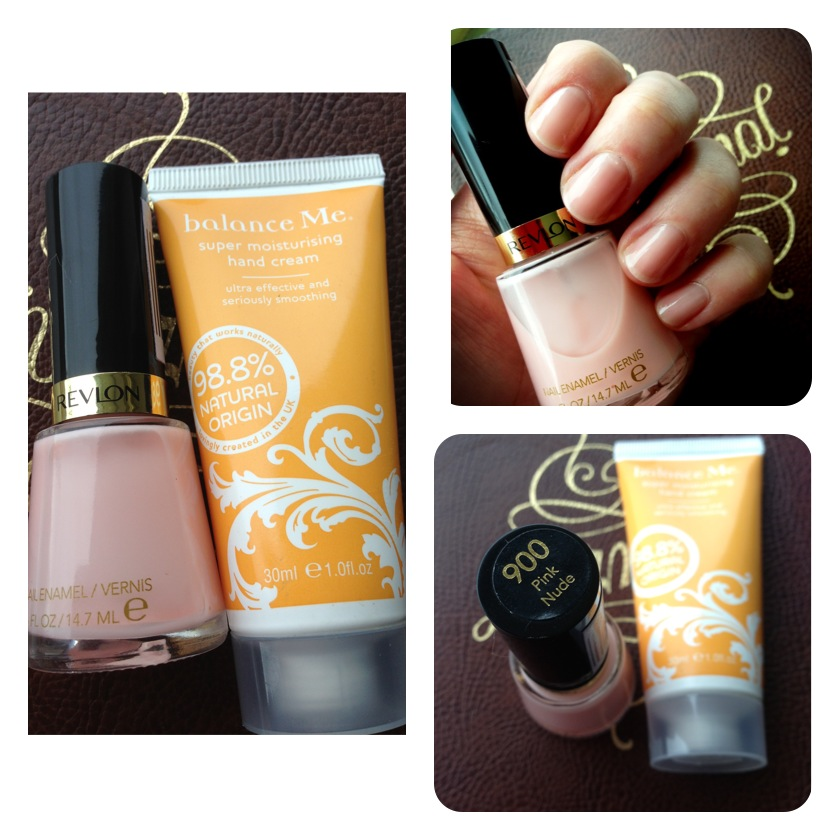 Balance me handcream, Revlon Pink Nude nail polish