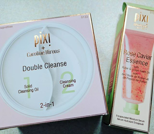 Scrumptious Pixi Treats😍. I've been on holiday in France for 2 weeks and these beauties were the perfect companions👍  #ukblogger #30plusblogger #pixidoublecleanse #rosecaviar  #pixibeauty #skincare #holidayskin