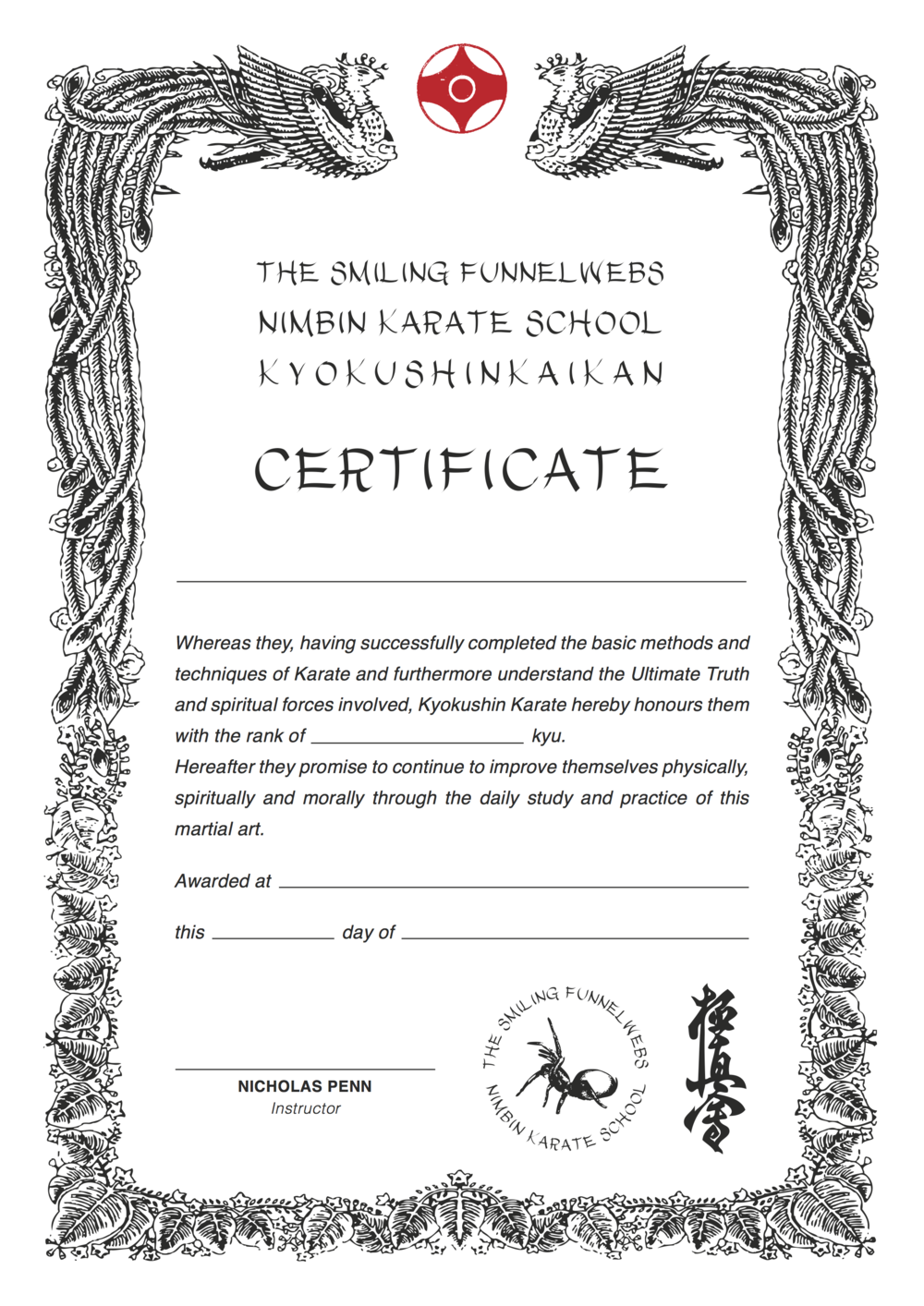 Karate black belt certificate templates images templates example black belt certificate template choice image templates example martial arts certificate templates free gallery templates karate yelopaper Images
