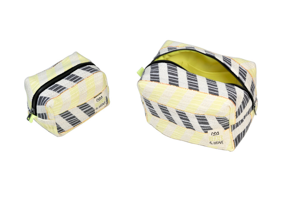 POUCH CHEVRON YELLOW
