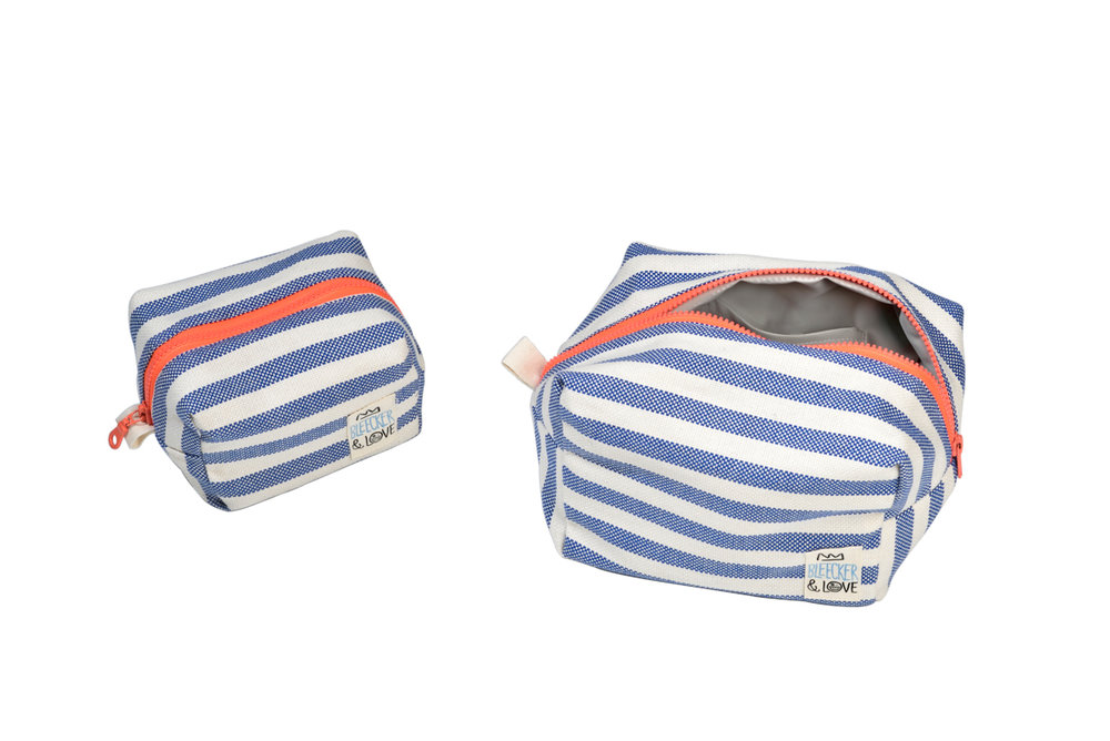 POUCH STRIPES BLUE