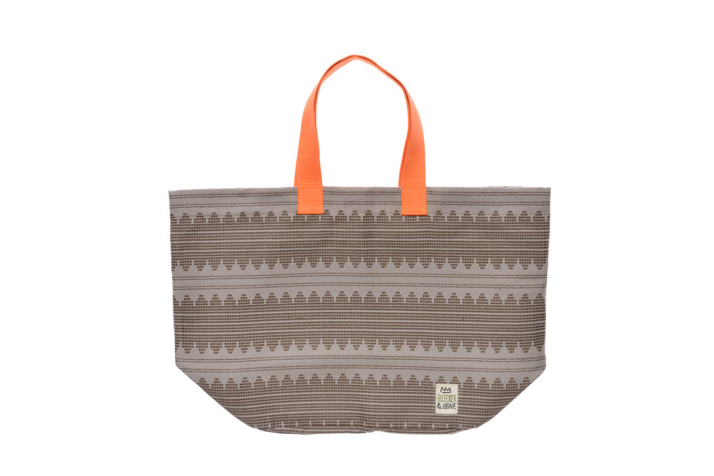 BEACH BAG SOUNDWAVES BEIGE