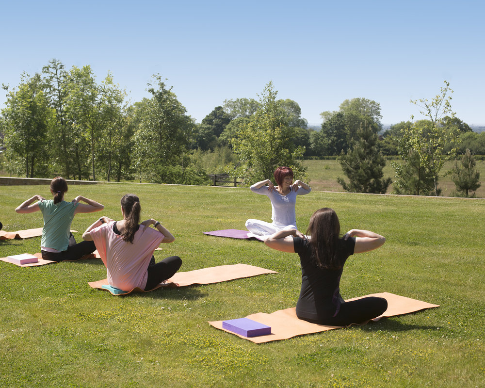 Morning Kundalini yoga at Raw Horizons.