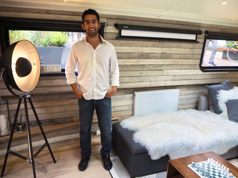 Ash Chawla, CEO of Duke of Design inside The Boathouse London in partnership with MADE.COM