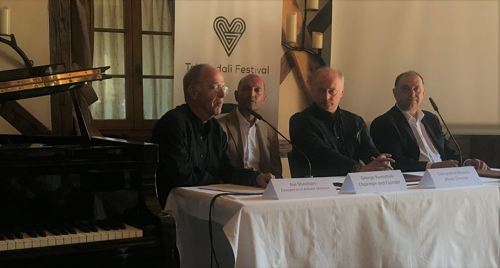 Tsinandali Festival Press Conference: Avi Shoshani, George Ramishvili, Gianandrea Noseda, David Sakvarelidze.