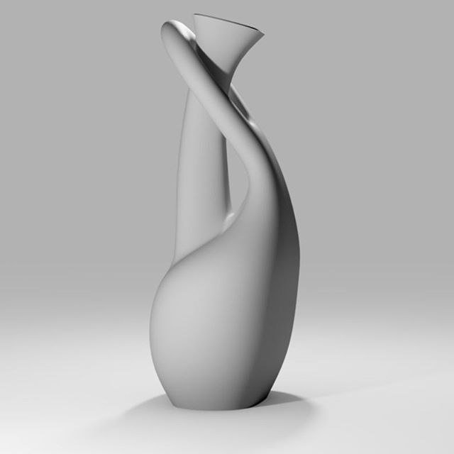 New day, new design. Trying to create figures that would be extremely difficult to make with traditional manufacturing.  #interiordesign #3dprinting #designer #design #vasedesign #vasedesign #3dprinted