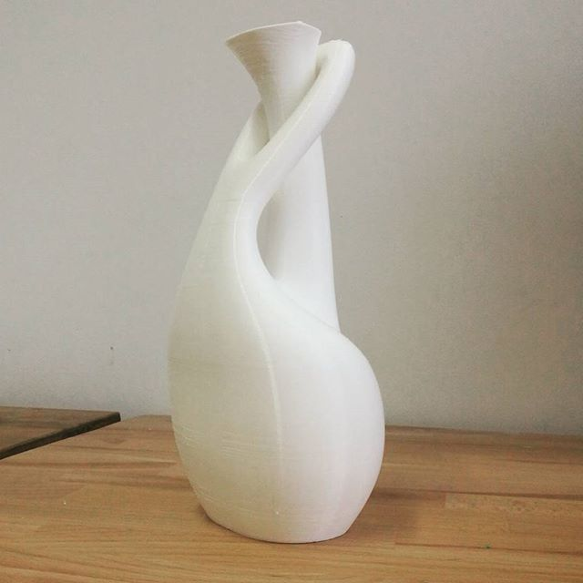 3D model brought to life through 3d printing  #3dprinted #3dprint #vasedesign #vase #interiordesign #interior