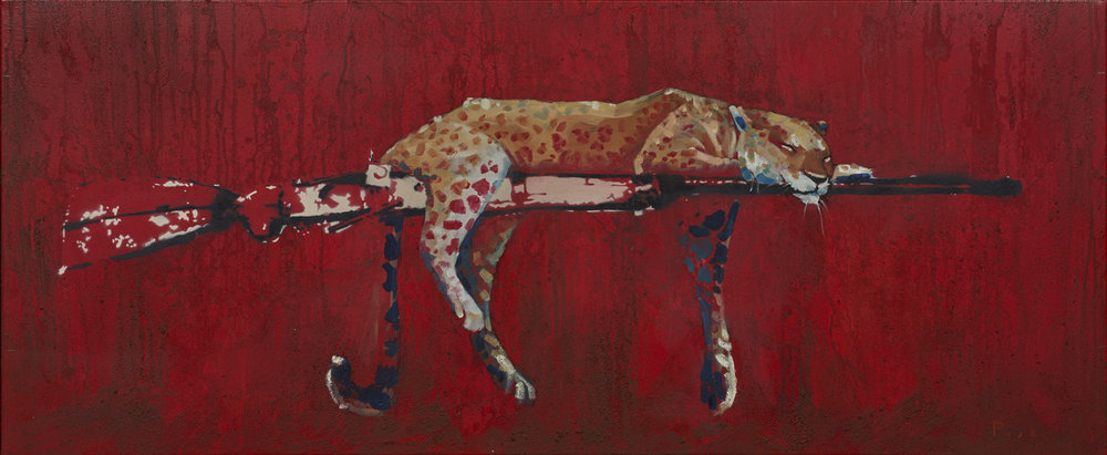 SLEEPING ON THE JOB Freddy Paske  Giclée Print (Limited edition of 250) 87x37cm  £90
