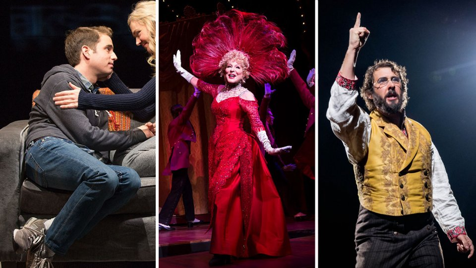 Dear Evan Hansen,' 'Hello, Dolly!' and 'Natasha, Pierre and the Great Comet of 1812'  Courtesy of Julieta Cervantes, Matthew Murphy and Chad Batka