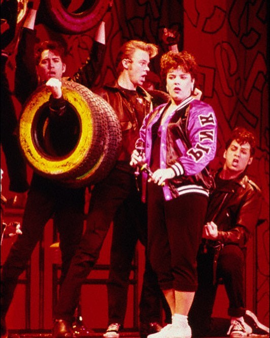 Who: @rosieodonnell #RickyPaullGoldin #SusanWood #JasonOpsahl @meganomullally @theebillyporter What: #Grease When: May 11, 1994 #BroadwayHistory Where: #EugeneONeilTheatre